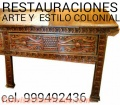 MUEBLES TALLADOS PERUANOS COLONIALES exclusivos